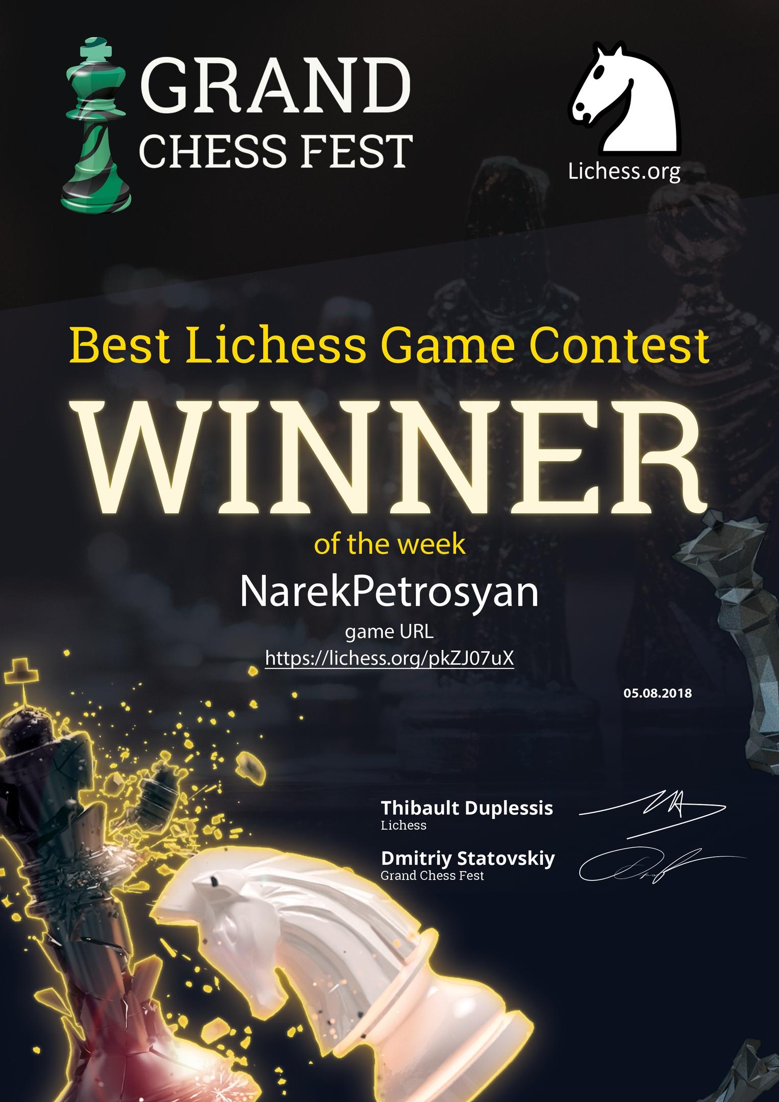 BEST LICHESS GAME CONTEST